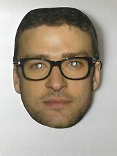 Justin Timberlake Mask Flat - Black Glasses Halloween