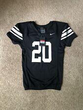 Nike Team Boys L Black & White Stripe Mesh Football Jersey #20 NWT