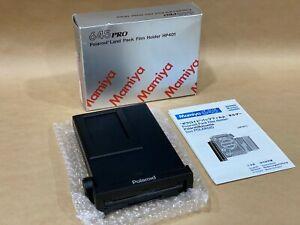 Mamiya 645 PRO Polaroid Back Land Pack Film Holder HP401 w/Box & Manual