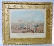 Antique Lithograph Execution of Thirty-Eight Sioux Indians Mankato MN Dec 1862