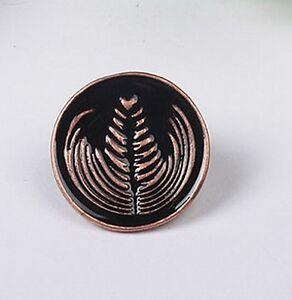 Bronze Barista Cafe Geek Lover Coffee Latte Art Rosetta Pin Brooch Badge Gift
