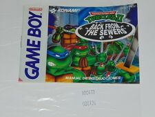Game Boy: Manual de instrucciones ESP TMNT II (2) Back From the Sewers