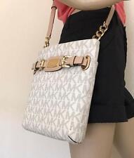 NWT Michael Kors Hamilton Vanilla Signature Crossbody PVC Bag Handbag Purse