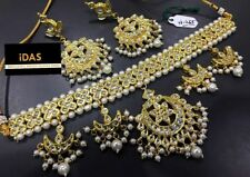 Indian Traditional Jewelry Bollywood Designer Kundan Choker Style Necklace Sets