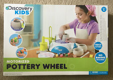 New Discovery Kids Motorized Pottery Wheel Set w/ Paints Brushes Jewels Tiles