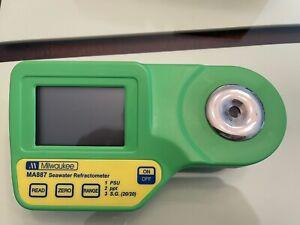 Milwaukee MA887 Digital Salinity Refractometer - Yellow/Green