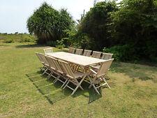 Salón de jardín teca conjunto mesa BATAN + 10 sillas 2 sillones JALANG