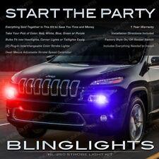 2014 2015 Jeep Cherokee Head Tail Lamp Multi-Color Strobe Light Kit + Controller