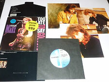 "RICHARD MARX - Too Late To Say Goodbye - 1990 UK llimited edition 7"" single"