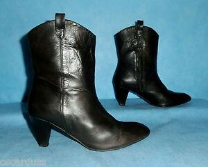 bottines boots QUELQUES SHOES DE PLUS 100% cuir p 37 fr