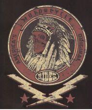 TEE SHIRT MANCHES LONGUES BIKER SKULL INDIEN RIDER  S. M. L. XL.XXL.XXXL+ ENFANT