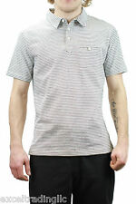 STEVEN ALAN Navy Striped Short Sleeve Placket Polo T-Shirt MCS0007CT NWT $98