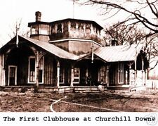 CHURCHILL DOWNS - FIRST CLUBHOUSE, 8x10 B&W Photo