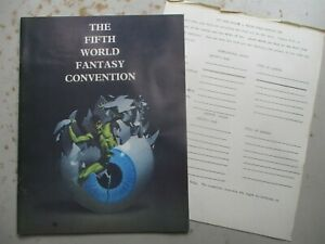 Fifth World Fantasy Convention Program Book from 1979 Stephen King Etc.
