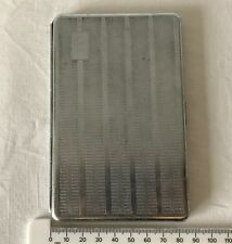 Vintage Folding Metal Cigarette Case - Blank Engraving Cartouche. No Elastic.