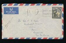 FIJI to NEW GUINEA 1955 AIRMAIL 1/- SLOGAN CANCEL FOLLOW THE SUN KIHILI BUIN