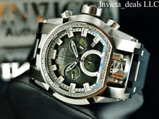 Invicta 52mm Reserve Bolt ZEUS MAGNUM Swiss Chronograph 0.43ctw DIAMOND SS Watch