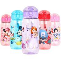 Baby Kids Children Character School Drinking Water Straw Bottle Leak Proof 500ML