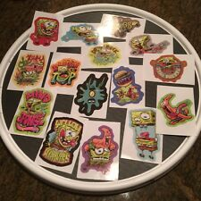Spongebob Squarepants Wacky Sticker Set 15 Helmets Skateboard Computer Notebook