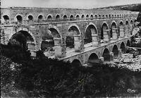 Postcard France Nimes (Gard) - Aqueduc Romain - Pont du Gard 1945