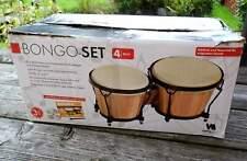 Vision Music - Bongo-Trommel -Set - Echtholz und Naturhaut - Größe: 6
