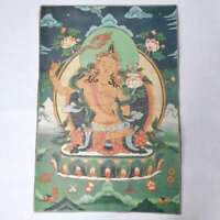 "36"" Tibet Tibetan Cloth Silk Wenshu Manjushri Kwan-yin Tangka Thangka Mural #4"