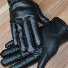 Gants d'écran tactile extérieur pour hommes en cuir complet thermique d'hiver