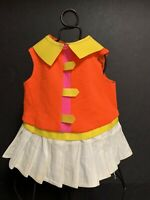 Vintage Doll Dress 1967 Mattel Inc. RANDI Reader ~ Neon Orange, Yellow, White
