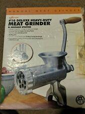 Weston 36-1001-W #10 Heavy Duty Deluxe Manual Meat Grinder