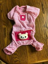 Fancy Baby PET One Piece outfit/pajama Dog or Cat - Size M- Cute w/Bear Pocket