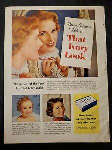 1940s Print Ad Ivory Soap