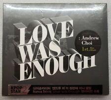 Andrew Choi Love Was Enough K Pop Mini Album