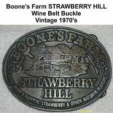 1970's Wine Belt Buckle Boone's Farm Strawberry Hill Vintage