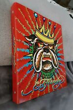 "NEW VTG Ed Hardy Lisa Frank King Bulldog Spike Collar Design 1"" 3 Ring Binder"