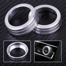 2x Silver AC Air Condition Control Switch Cover Knob Ring Fit For Honda Civic