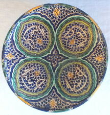 plat ancien faience Maroc Afrique Nord ceramic dish
