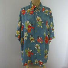 Citron Clothing Womens Small Blue Asian Silk Button Front Kimono Blouse Top S
