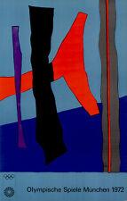 Olympische Spiele 1972 München Kunst-Motiv Plakat von Fritz Winter OLYMPIADE