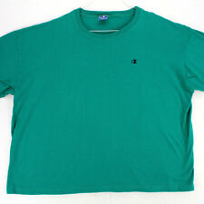 CHAMPION Vtg 90s Made In USA TEAL GREEN CREW NECK T-SHIRT MEN'S XXL 2XL