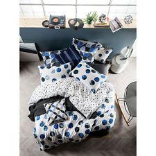 Linen House Tika Blue King Bed Size Duvet Doona Quilt Cover Set