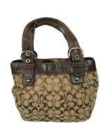 Coach Soho F15047 Pleated Signature Jacquard Canvas Tote Bag