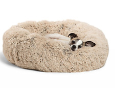Puppy, Dog and Cat Pet Bed, Fuzzy Cuddler, Orthopedic Relief, Improved Sleep
