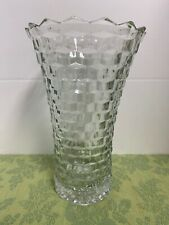 """INDIANA VASE CLEAR GLASS COLONY WHITEHALL FLARED FLOWER VASE 10"""" Tall"""