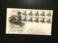 FDC-#1897A Train Locomotive Transportation Coil Cachet -FINE-FREE SHIPPING
