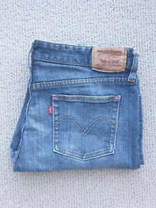 Levi's 553 Women's Blue Denim Jeans Size 16 x 33 Traditional Fit Straight