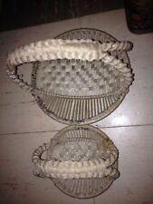 Baskets(2)Handmade Mackramade Beige Small/extra small-Shallow