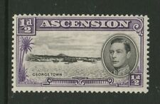 More details for ascension 1938 ½d violet with re-entry cw 1a mint.