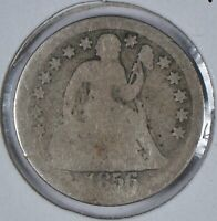 1856 Seated Liberty Dime About Good