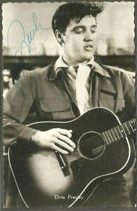 ELVIS PRESLEY original Autogramm signed vintage German postcard 50er