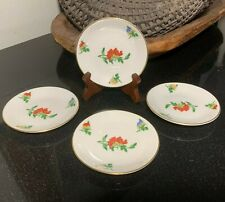 "VERY RARE 4 Castleton China USA Ma Lin by Ching-Chih Yee 4 1/4"" Coupe Coasters"